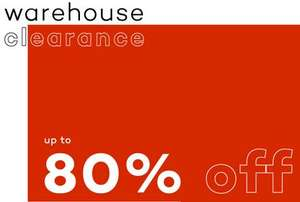 80% OFF Warehouse Footwear & Clothing Clearance @ bbclothing.co.uk