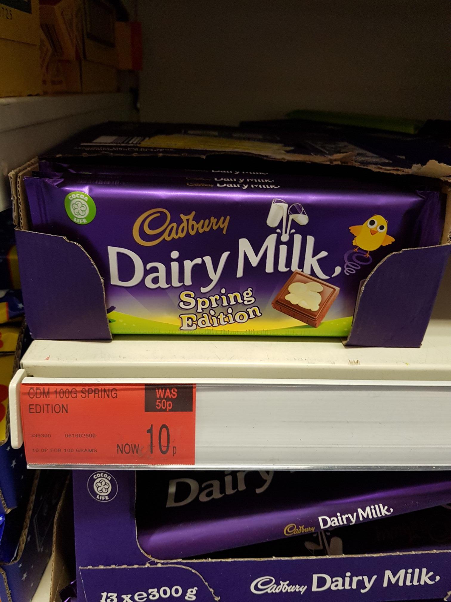 Dairy Milk spring edition chocolates 10p instore @ B&M 100g