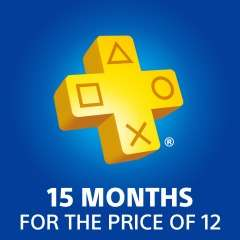 PlayStation Plus 15 months subscription for £43 (£2.87 per month)
