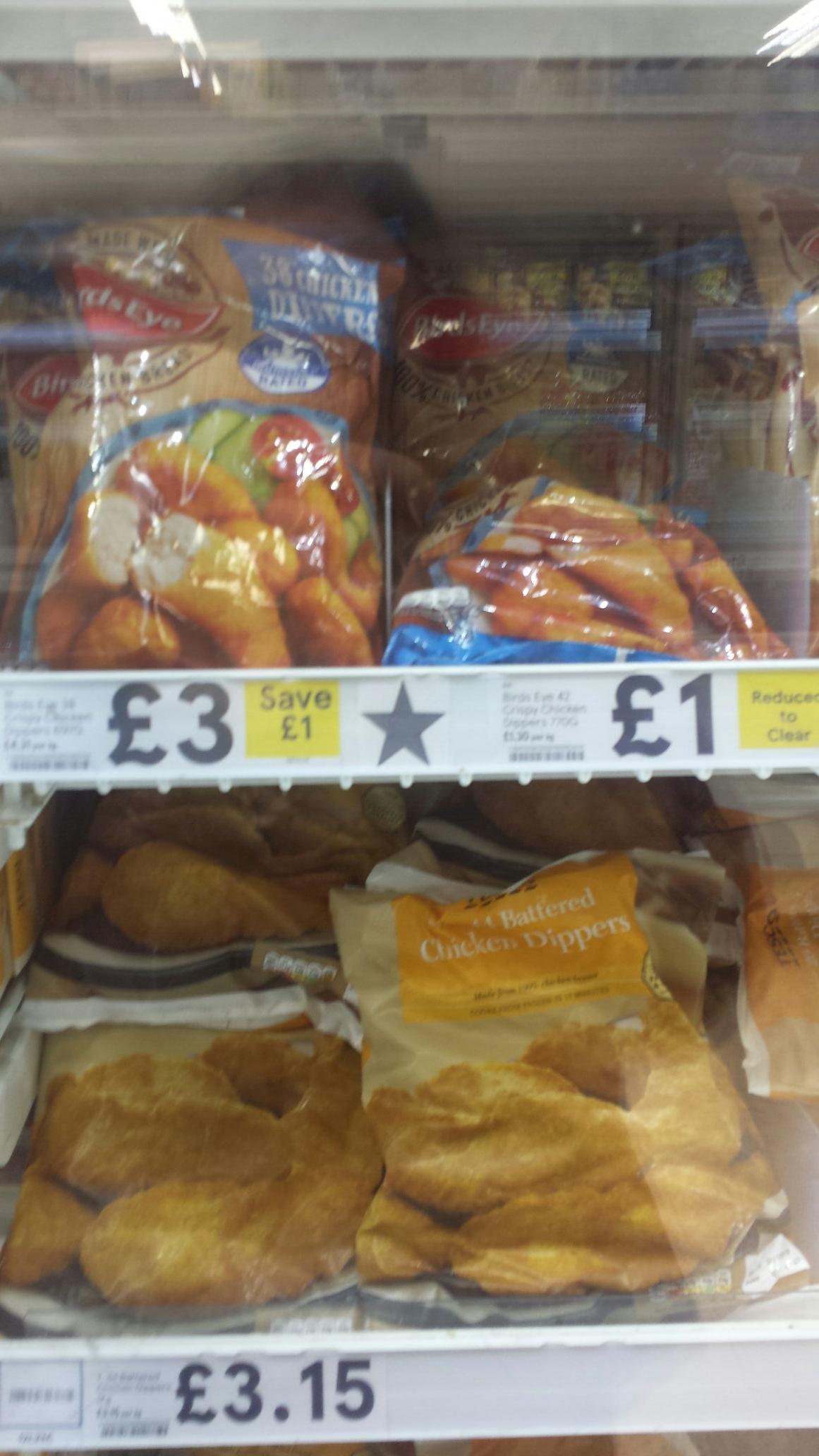 Birds Eye 100% Chicken Breast - 42 Chicken Dippers £1 instore @ Tesco