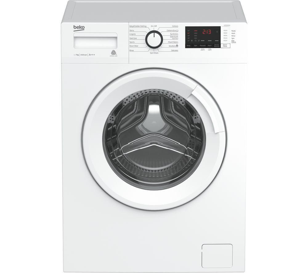 Budget Washing Machine:  BEKO WTB741R2W 7 kg 1400 Spin Washing Machine - White  £179 Currys