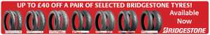 £20 to £40 0ff selected pairs Bridgestone motorcycle tyres
