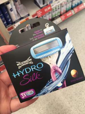 Wilkinson Sword Hydro Silk 5 Blade Refills x3 Pack, Was £10, Now 50p @ Sainsburys In-Store