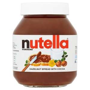 Nutella Hazelnut Chocolate Spread 750gm was £4.30 now for £3 @ Morrisons online & instore