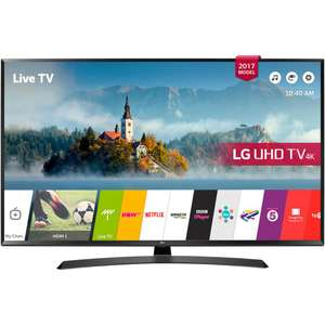 "LG 55UJ635V LED HDR 4K Ultra HD Smart TV, 55"" with Freeview Play & Crescent Stand, Black at John Lewis for £499"