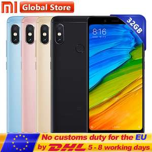 Original Xiaomi Redmi Note 5 3GB 32GB £136.82 @ Aliexpress (Mi Store)