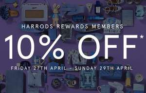 Harrods Member rewards 10% sale