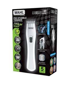 Wahl Lithium Rechargeable Stubble Trimmer White £26.98 @ Amazon Free Delivery