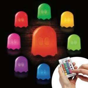 Pac-Man Ghost Remote Controlled Mains Powered Lamp - 16 Colour Changes £11.25 Del @ Maplin