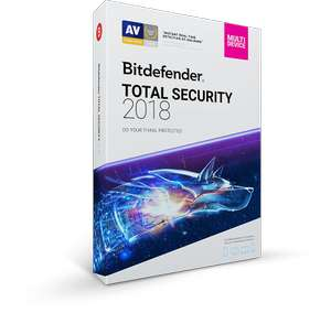 82% off. Bitdefender Total Security 2018, 5 devices, 1 year license,  - £15.26