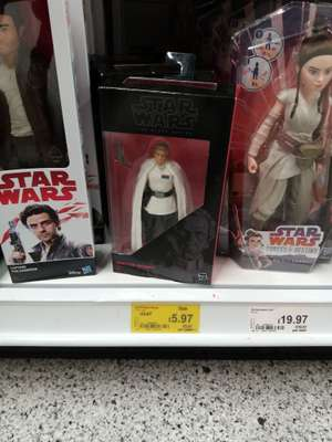 Star Wars Black Series figure reduced to £5.97 in-store at Asda Gt Yarmouth