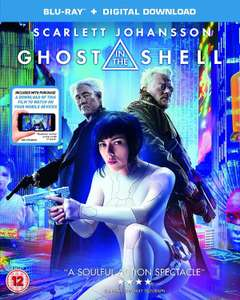 GHOST IN THE SHELL  - Blu-Ray + digital download - £3.60 on Amazon PrimeNow (free delivery on £40 orders)