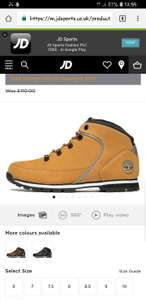 Timberland boots £50 Free delivery to store at JD Sports