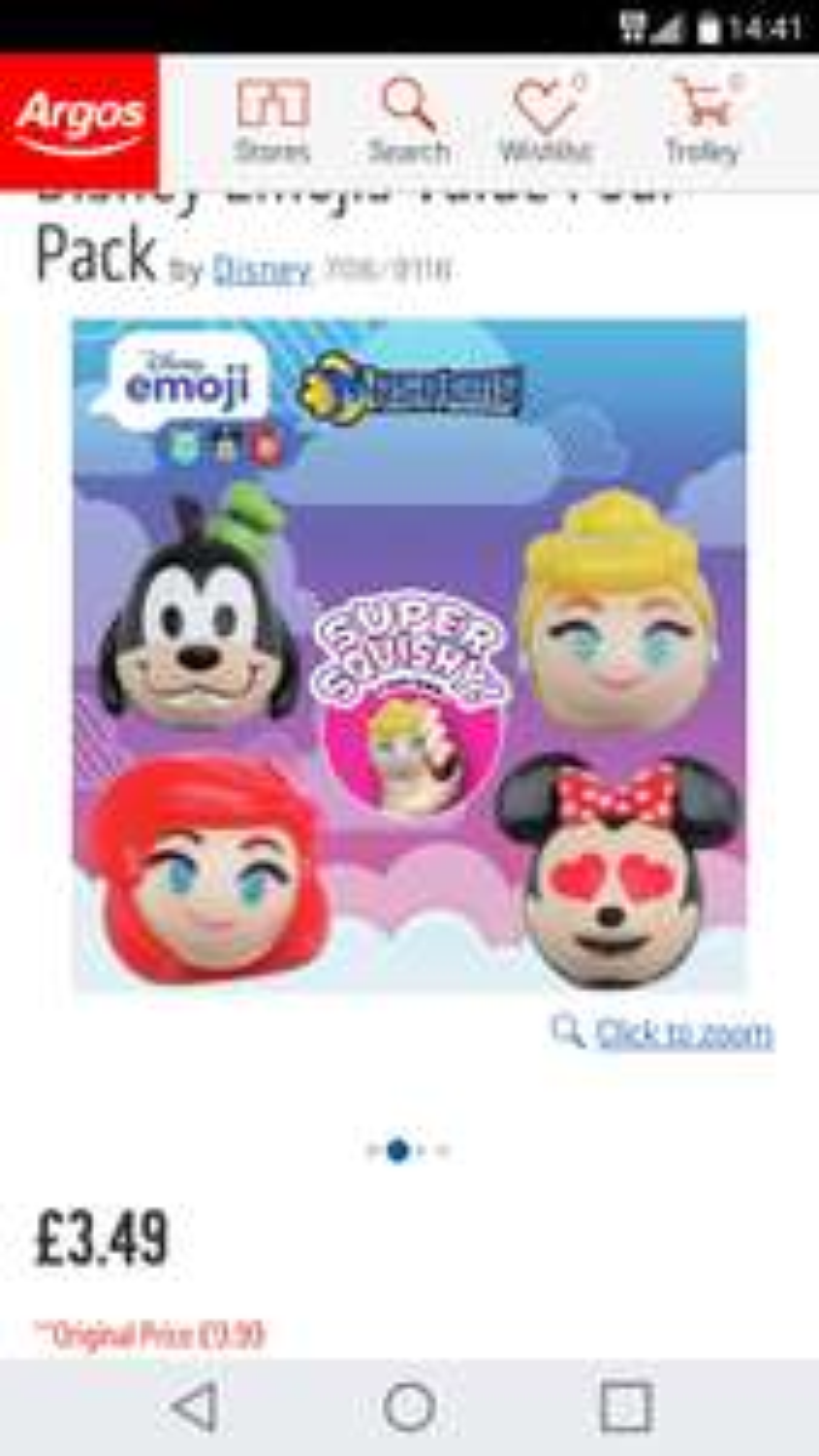 Disney emoji squishies at Argos for £3.50