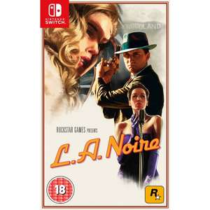 L.A. Noire for Nintendo Switch C+C Only Smyths £19.99