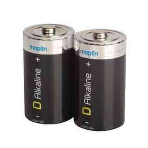 Alkaline D Cell Battery Twin Pack £1.05 in store and online @ Maplins