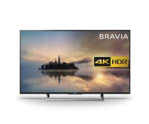 Sony Bravia KD43XE7002 4K HDR Smart TV 43 inch Silver Amazon £389 Prime Exclusive