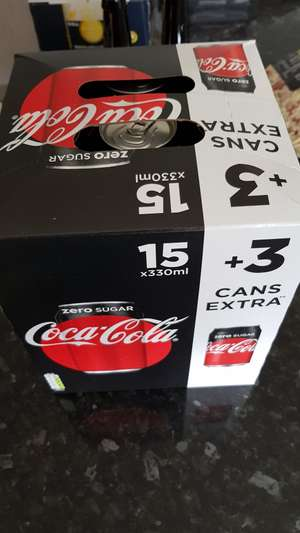 Coca Cola ZERO Sugar 18x330ml Cans for £2.50 @ Asda (Instore)