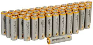 PLEASE RECYCLE AFTER USE! AmazonBasics AA Performance Alkaline Batteries [Pack of 48] £11.78 Prime / £15.77 Non Prime at Amazon