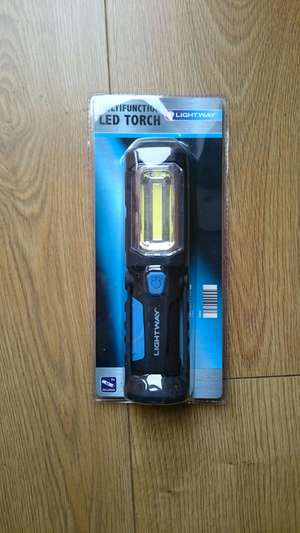 Multifunction Torch with base magnet and fold out stand - 200 lumens £2.50 @ Aldi - Mansfield