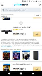 Amazon Prime Now playstation 4 camera £23.99 - south London + £4 delivery on top