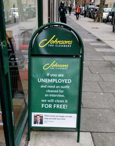 Free Dry Cleaning - For the unemployed @ Johnsons dry cleaners