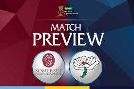 Somerset CCC v Yorkshire CCC FREE Live stream @ youtube.com