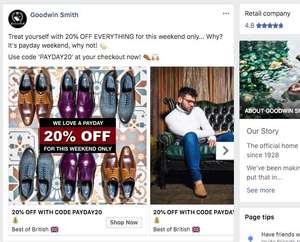 Goodwin smith 20% off new collection with code