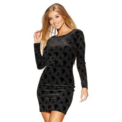 Quiz black velvet glitter dress 8,10,12,16 now £9.99 was £34.99 @Debenhams