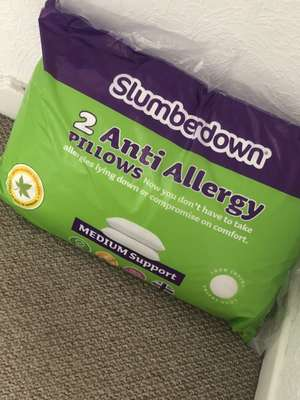 Slumberdown Anti Allergy Pillows. £6.99 @ Aldi