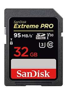Alternate buying options Available New from £15.99 SanDisk Extreme PRO 32 GB SDHC Memory Card @ Base