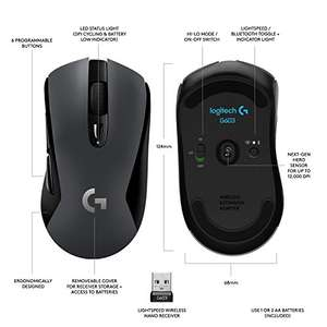 Logitech G603 Wireless Gaming Mouse with HERO optical sensor (12.000 DPI) @ Amazon.de delivered £48.51
