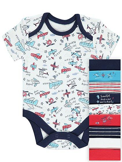 10 X  aeroplane print bodysuits - first size £6 @ Asda