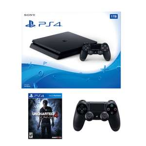 PlayStation 4 1TB Console +SPECIAL EDITION Uncharted 4 + Extra Black Wireless Controller £241.94 delivered with code @ Bargain crazy