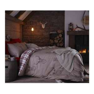 Catherine Lansfield Red Stag Duvet Cover Set - Super King £5.35 at Tesco direct free C&C