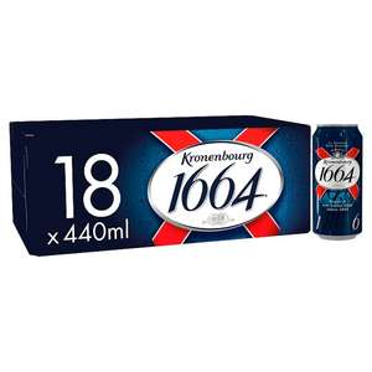 Kronenbourg 1664 Premium Lager 18X440ml cans. £13 Tesco Instore & Online