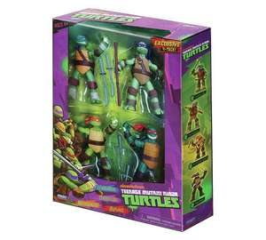Teenage Mutant Ninja Turtles Action Figures - 4 Pack £13.99 @ Argos. Free Click & Collect.