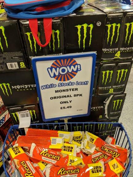 Monster energy original 8 x 500ml - £5.49 @ B&M Stores