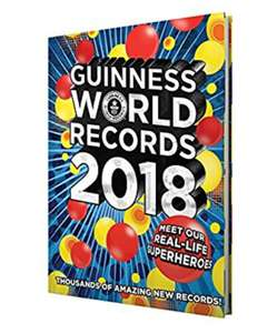 Guinness World Records 2018 Hardback Only £5 Prime / £7.99 Non Prime @ Amazon