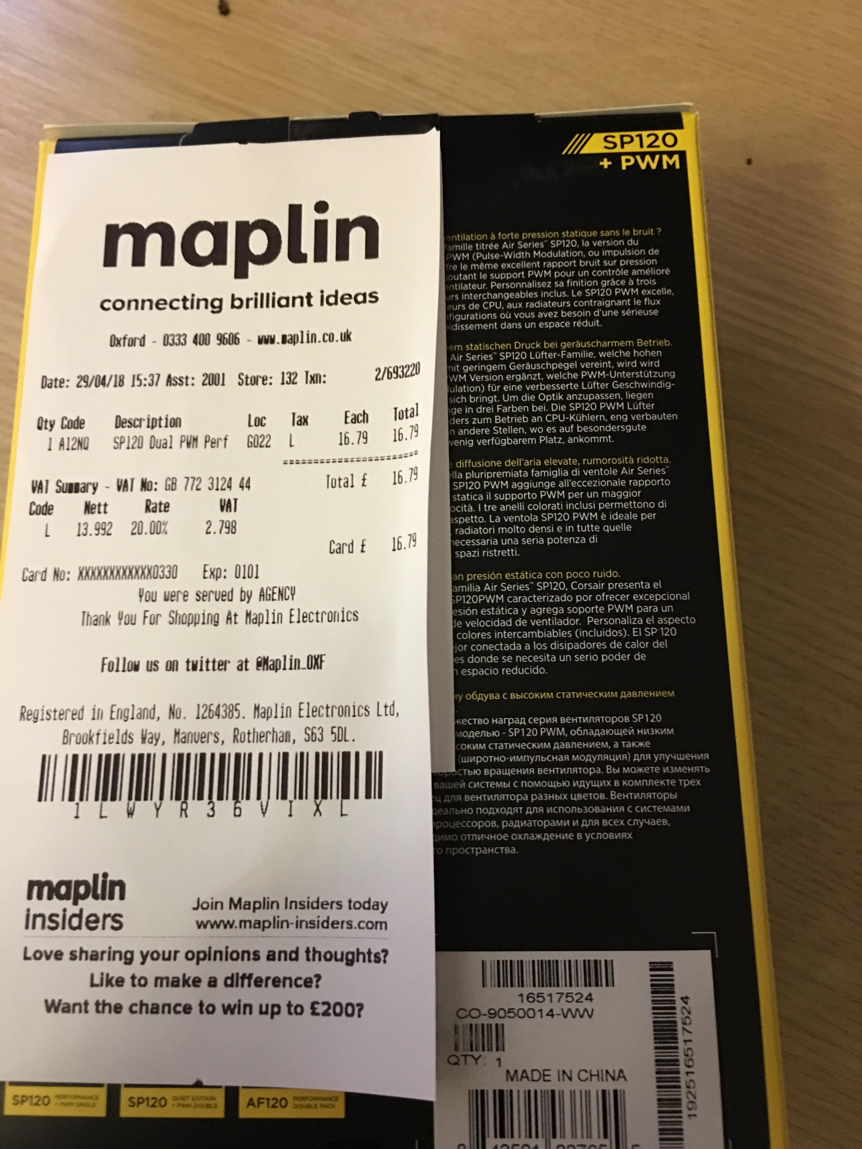 SP120 performance edition + PWN (4 pin) £16.79 instore @ Maplin
