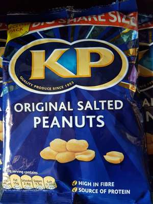 KP Original Salted Peanuts Big 415g Bag £1.29 @ Fultons Foods