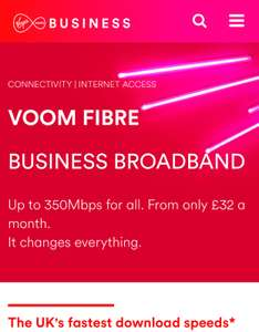350 Mbps for £32pm with Virgin Media Business Broadband. 24 month contract - £768 total cost