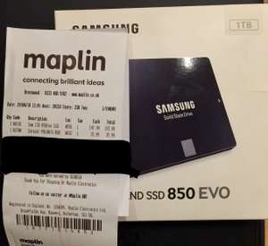 Samsung 850 EVO SSD - 1TB £197.99 reduced from £329.99 instore @ Maplins (Brentwood)