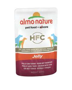 AlmoNature (Highest Quality) Jelly Dog Food - Chicken & Tuna (Pack of 24 70g Pouches) RRP £20 - only £6.62 [Add-on Item] at Amazon