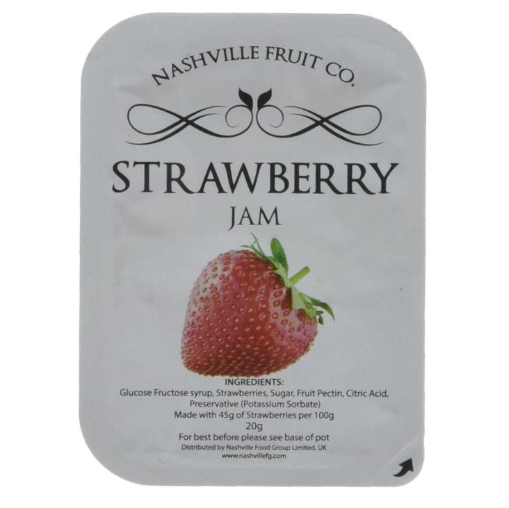 Nashville Fruit Co Strawberry Jam Portions (45% Fruit) 112 x 20g @ Amazon - £8.60 Prime / £13.35 non-Prime