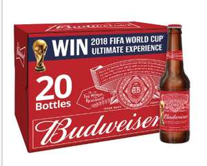 Budweiser 20X300ml £10.00 // Corona Extra 12X330ml £10.00 @ Tesco from 1/05