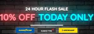 10% OFF Goodyear, Kumho or Dunlop tyres. TODAY ONLY. at blackcircles