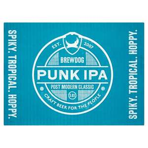 Brewdog Punk IPA India Pale Ale Beer Pack 12x 330ml cans £13 @ Tesco