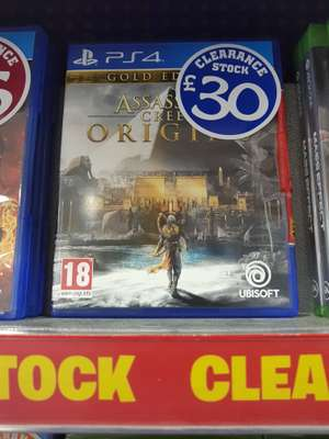 Assassins Creed Origins Gold Edition only £30! Instore @ Smyths Toys (PS4, Includes Season Pass)