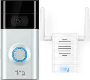 Ring 2 1080p Doorbell with Chime Pro £179.99 with code SMART10 @ CURRYS